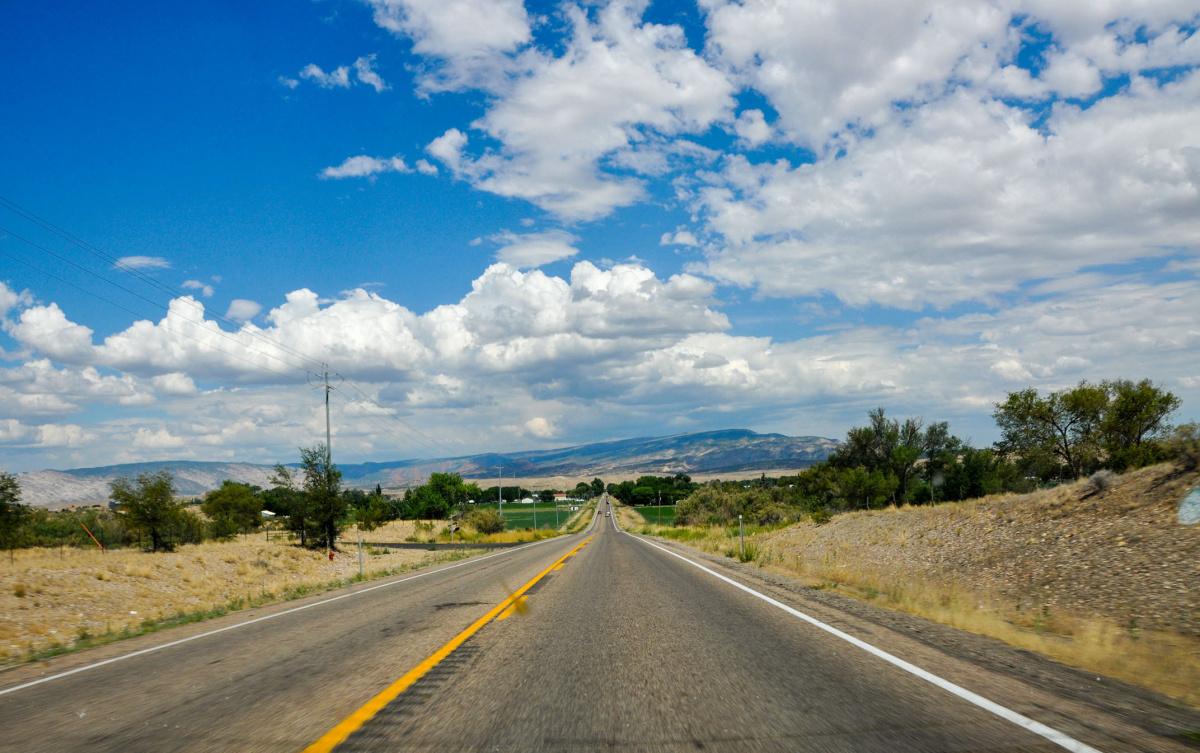 Approaching Utah Farmland