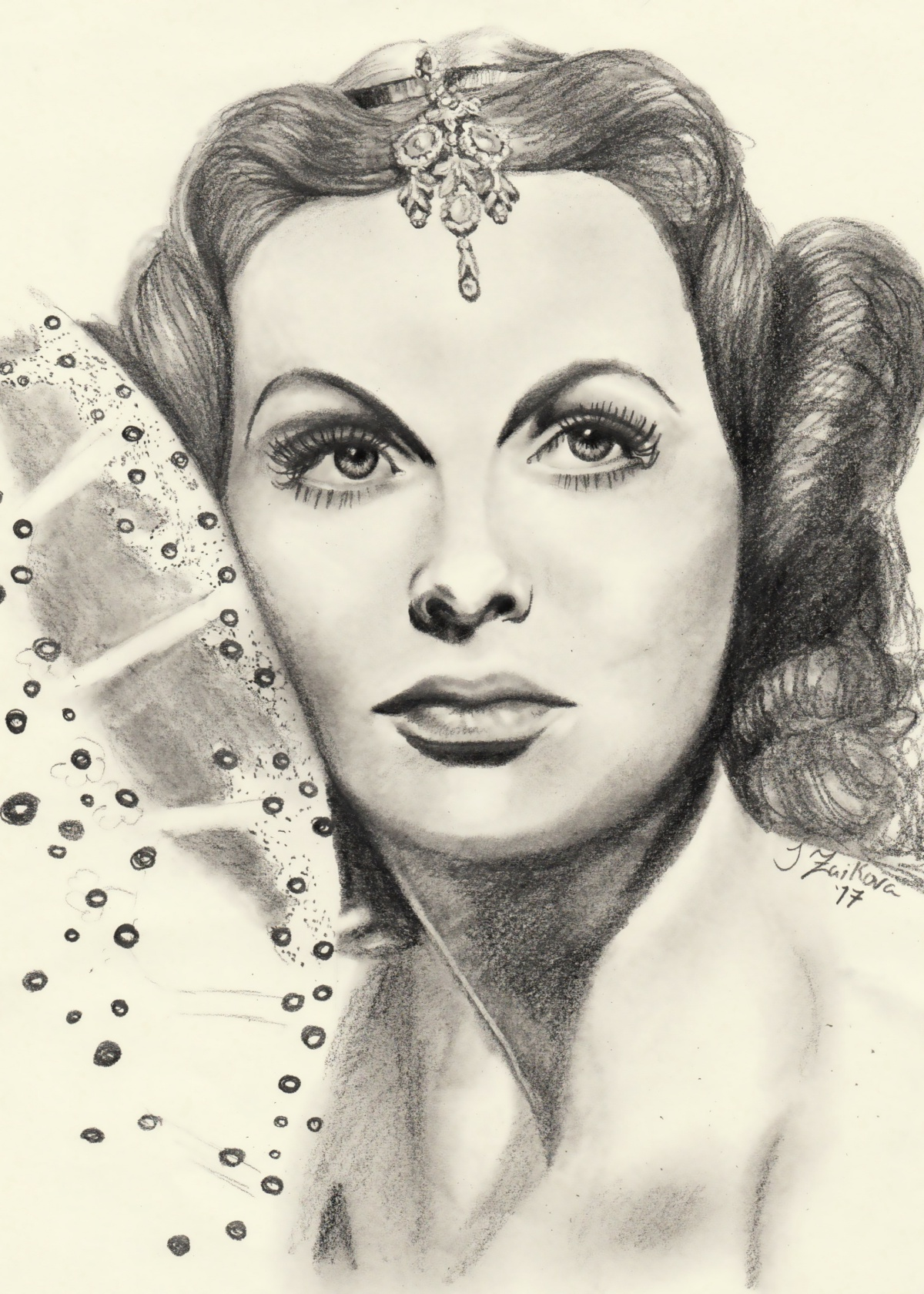 Hedy Lamarr in Graphite