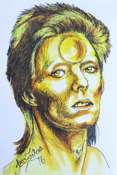 Bowie in Yellow