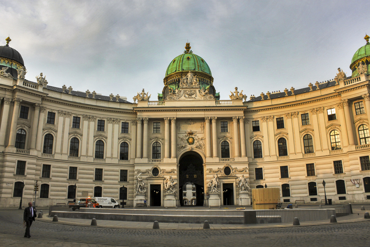 Businessman and the Hofburg Palace
