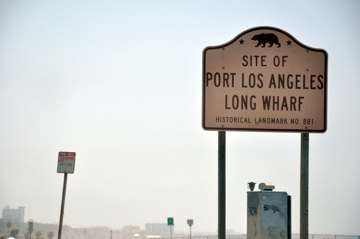 SIte of Port Los Angeles Long Wharf
