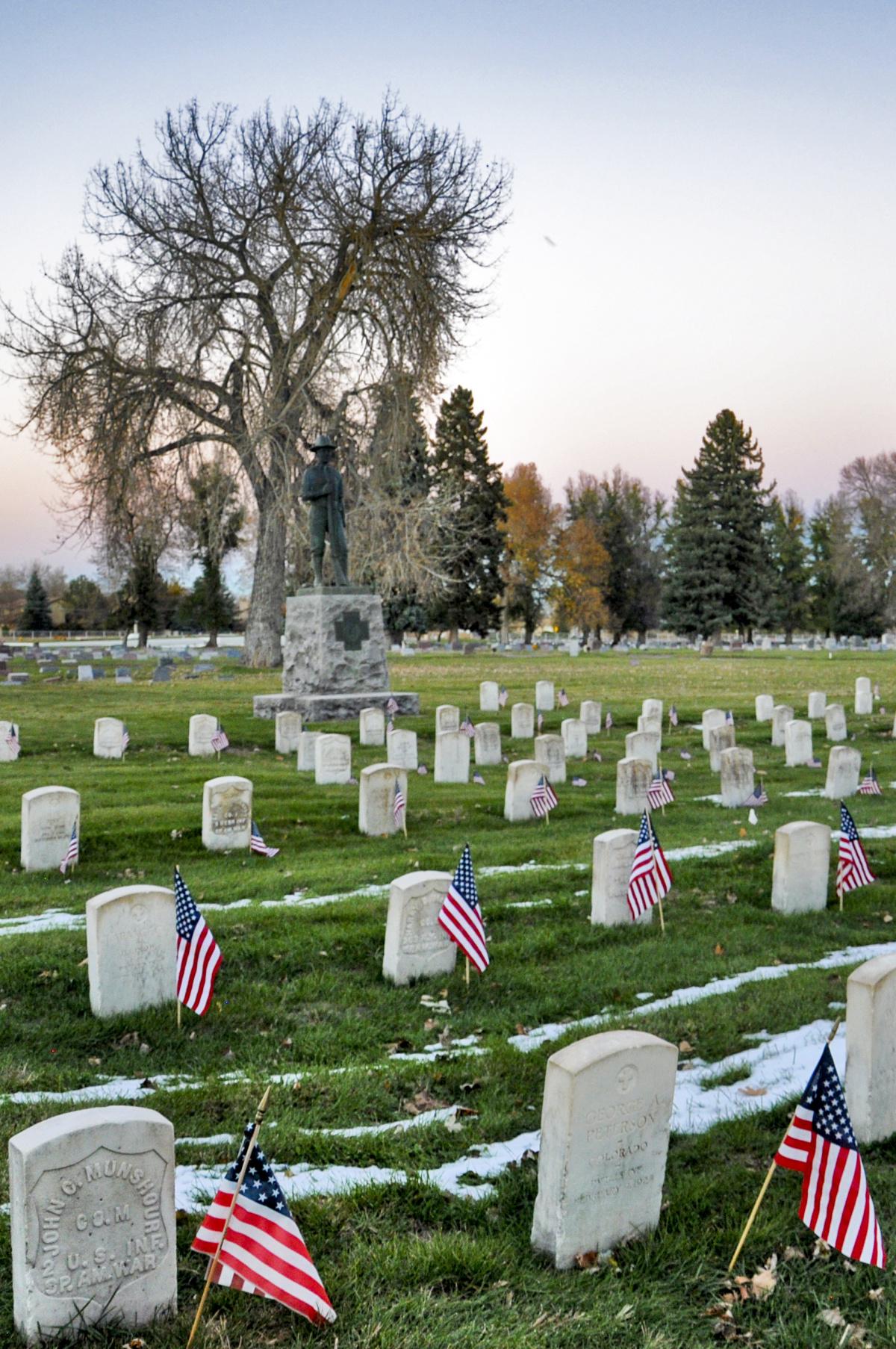 Veterans at the Littleton Cemetery