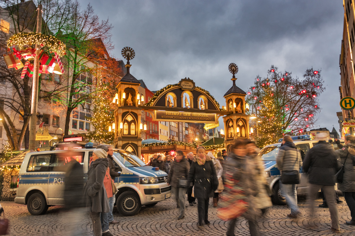 Police at the Christmas Market