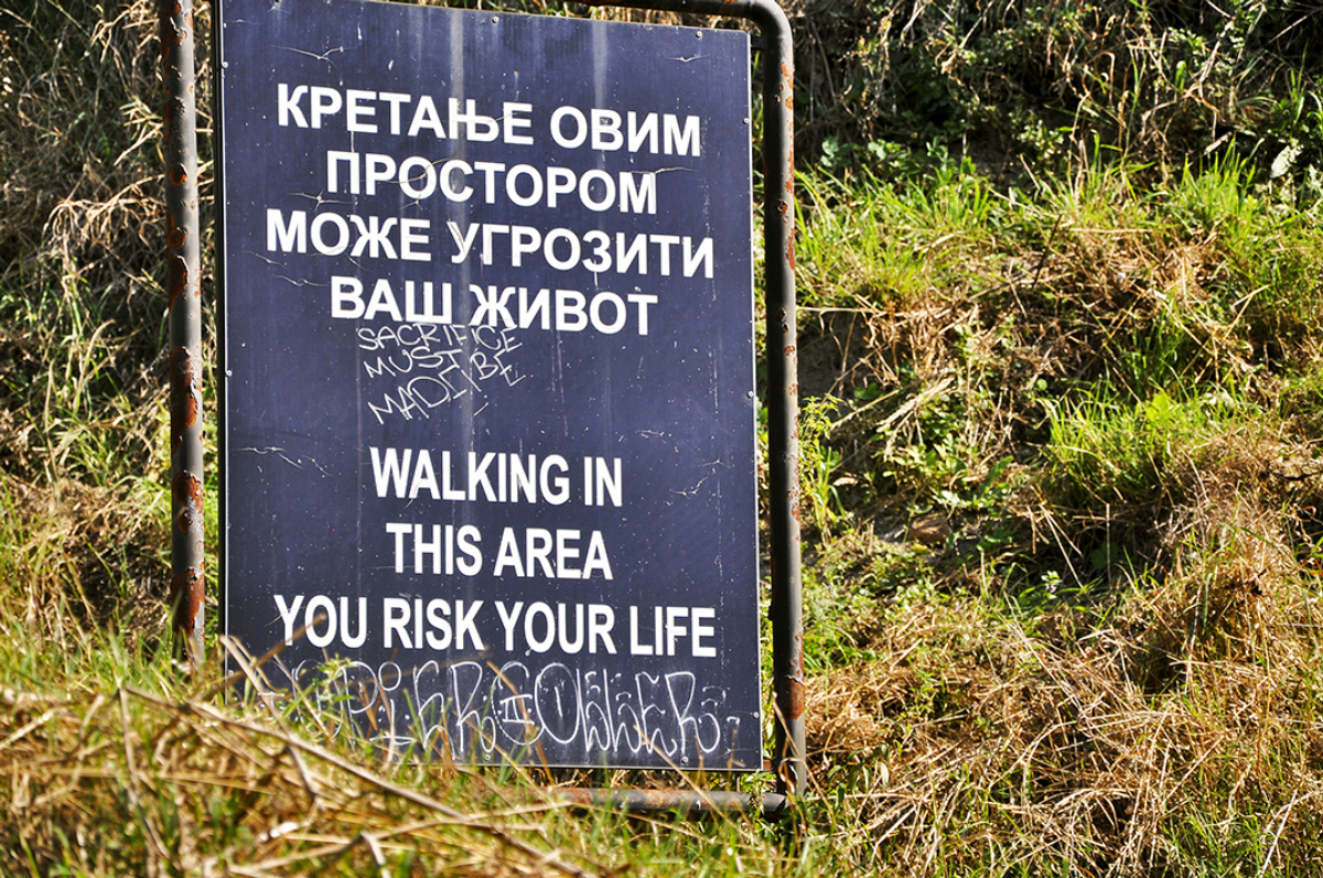 Walking in This Area, You Risk Your Life