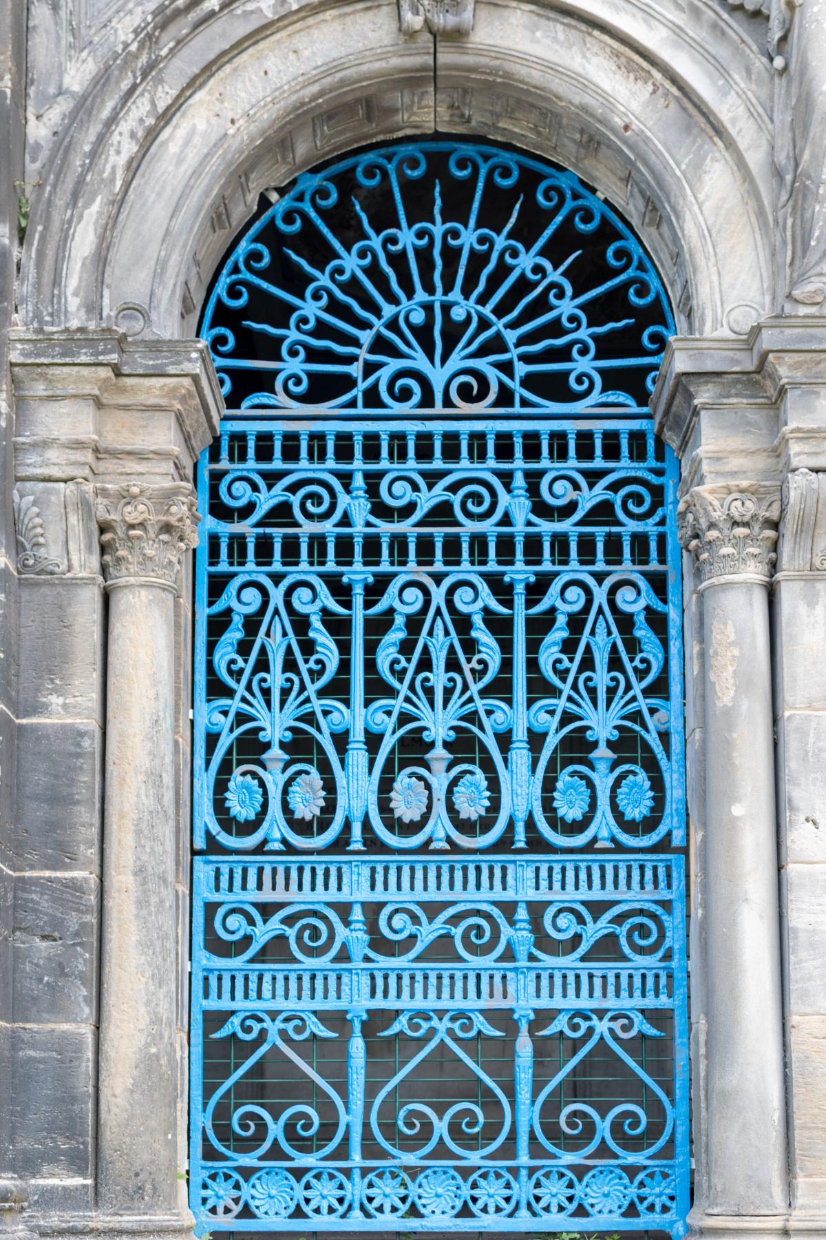 Bright Blue Gates