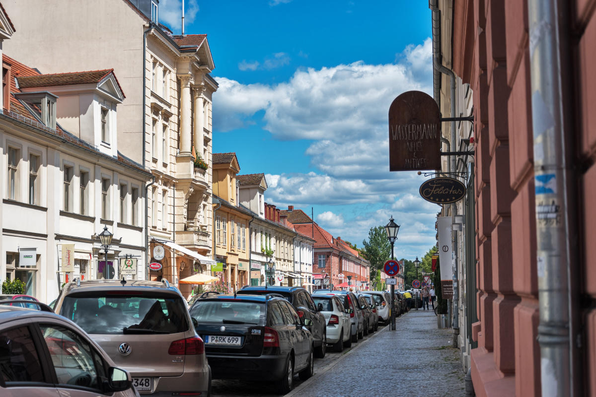 Blue Sky Over the Street in Potsdam
