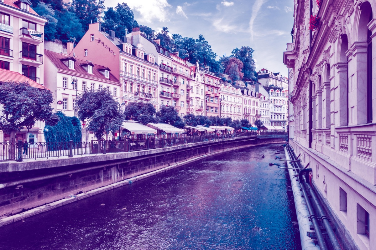 Karlovy Vary in Purple