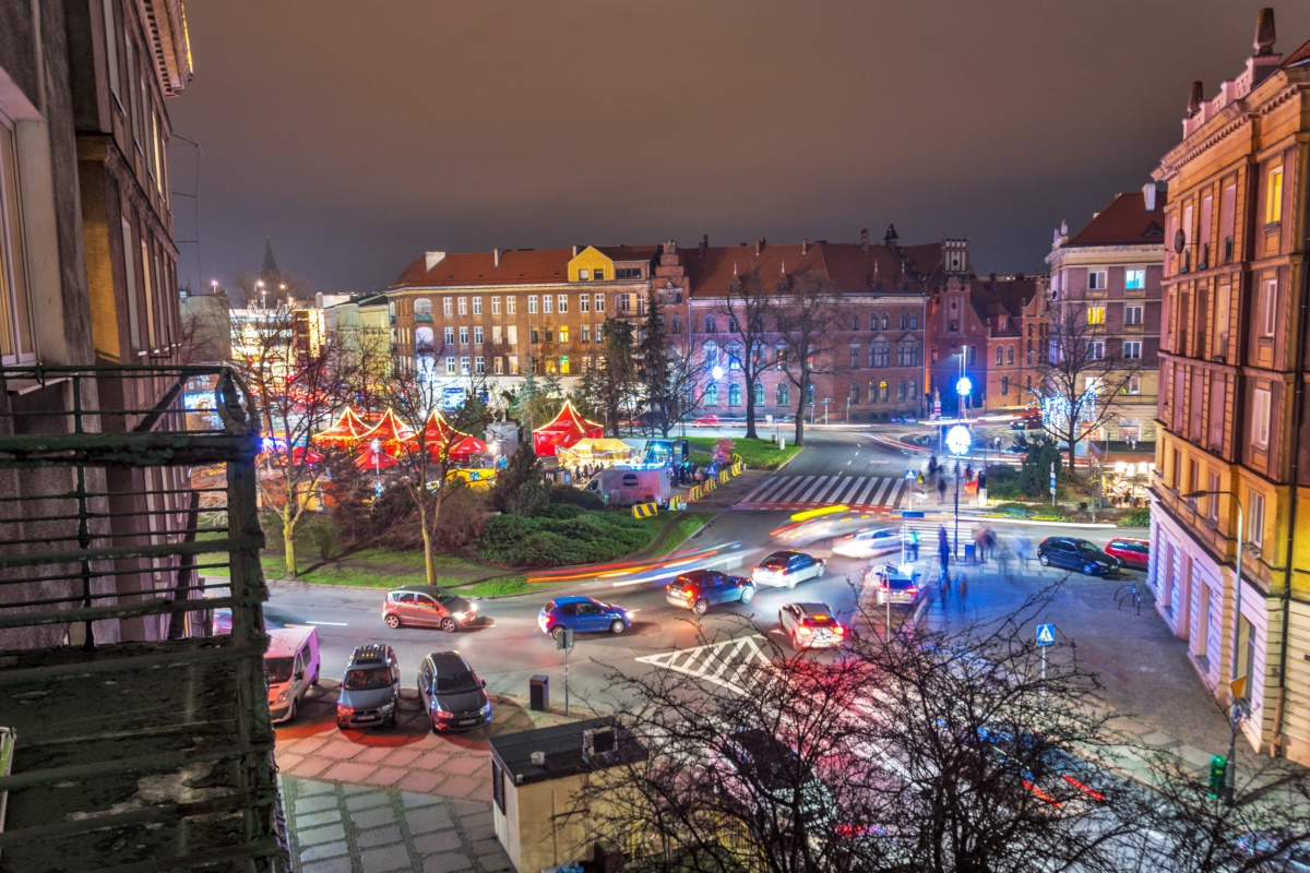 Szczecin on a Busy Night