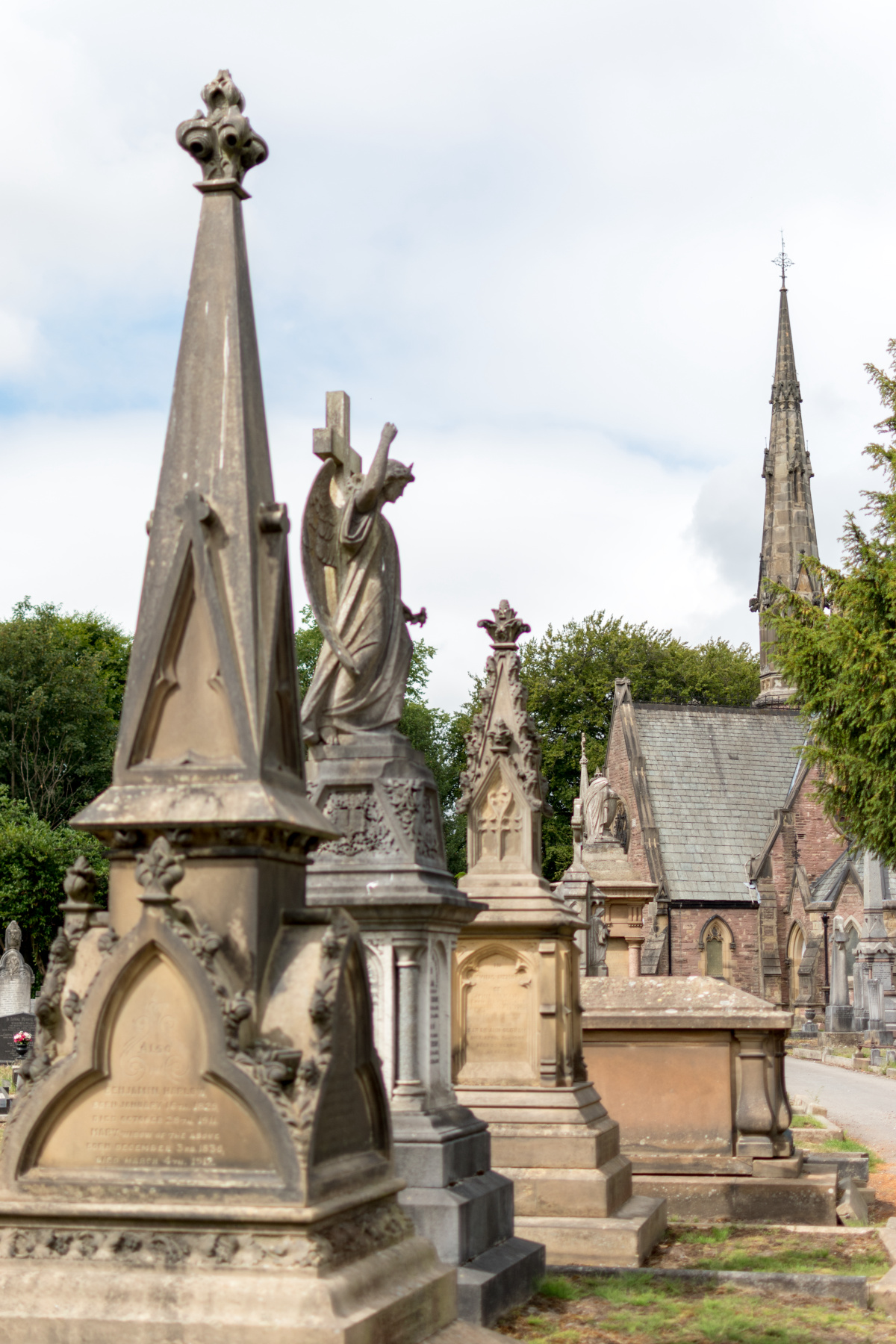 Macclesfield Cemetery in the Summer