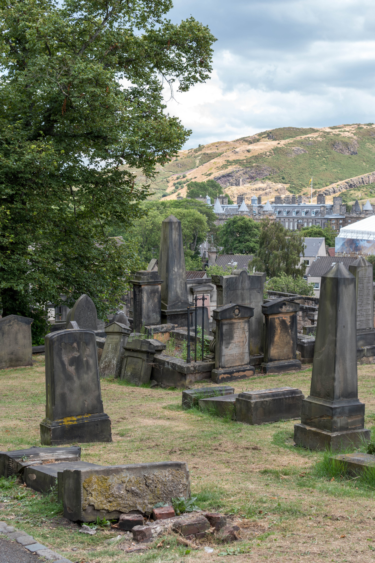 Edinburg Old Cemetery and the Hills