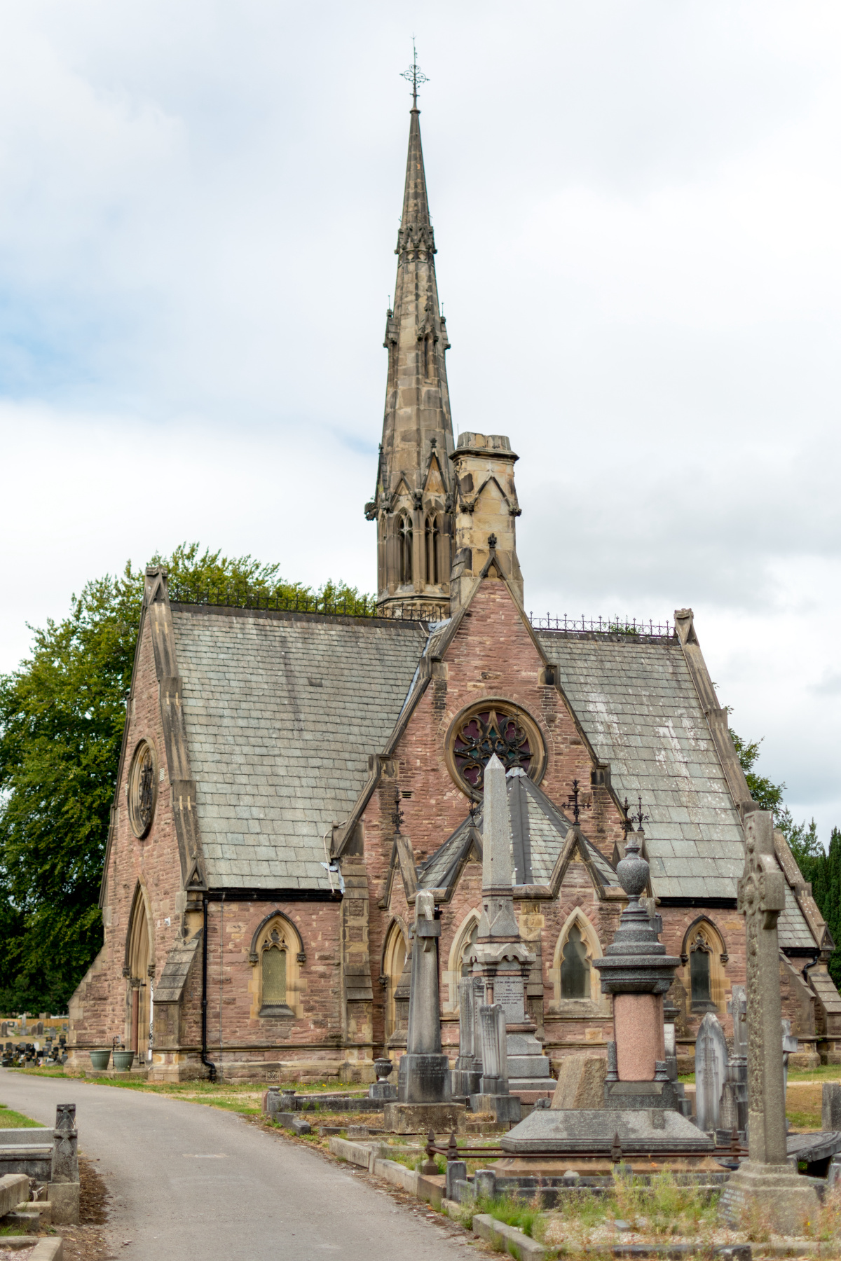 Macclesfield Cemetery Chapel in the Summer