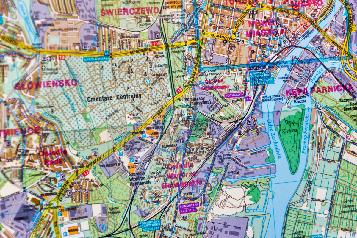 Map of Szczecin