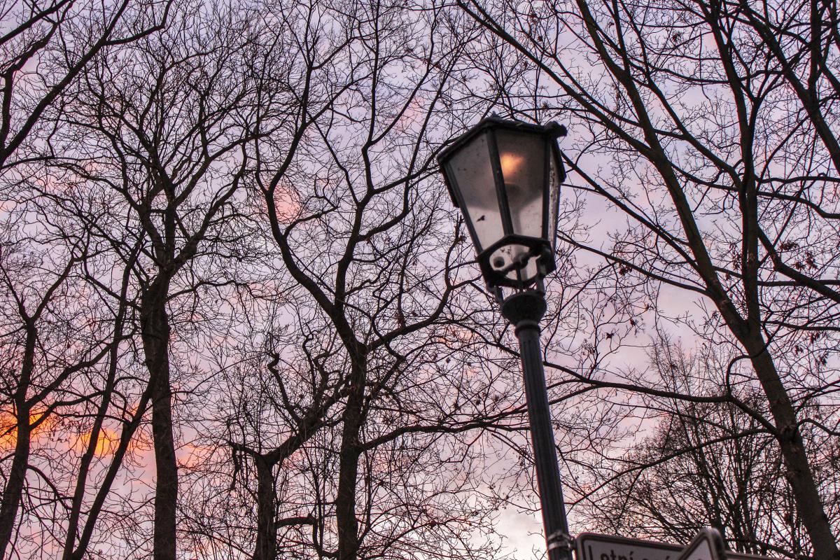 Lamppost Sunset
