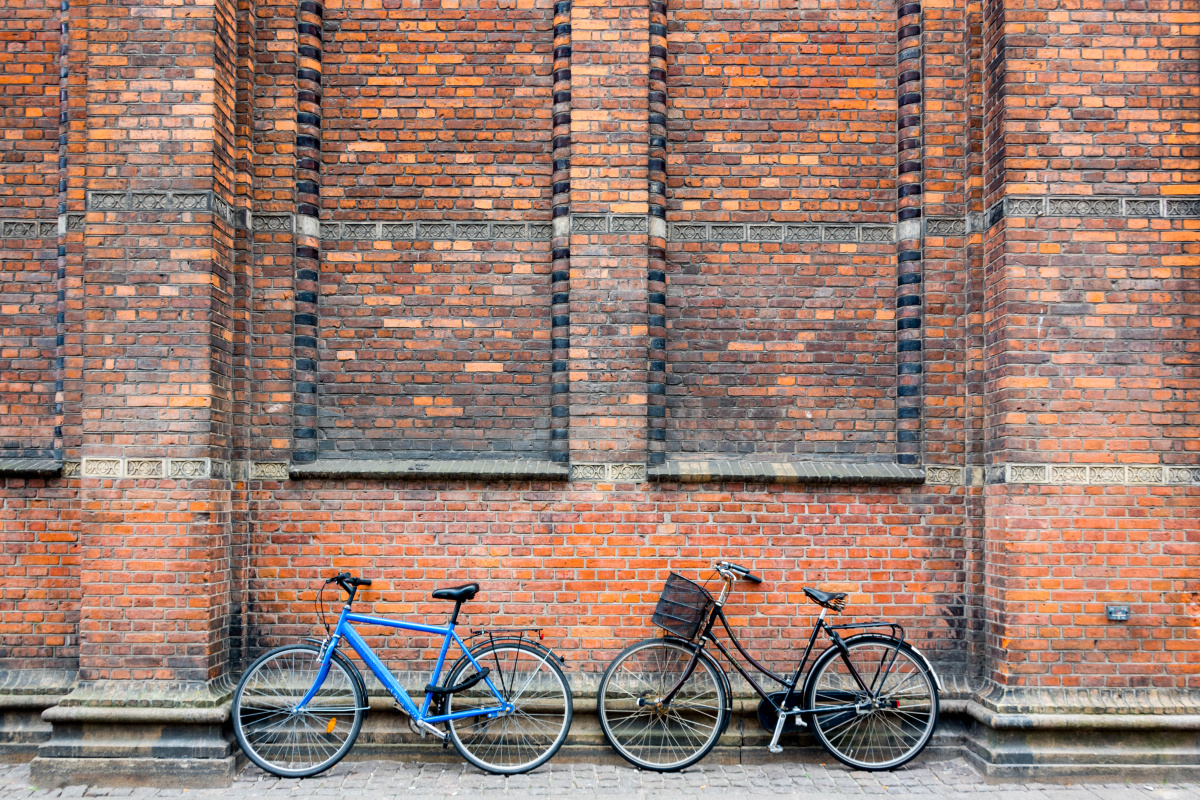 Two Bikes Amongst the Bricks