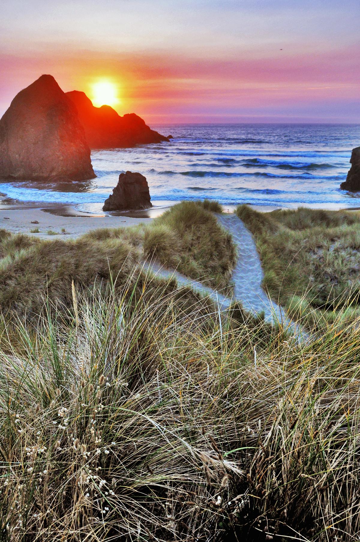Sunset on the Oregon/California Border