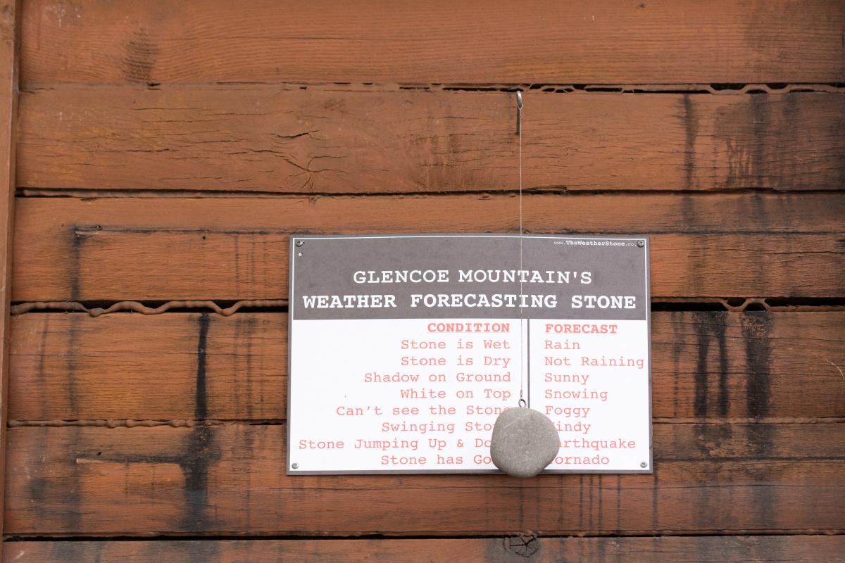 Glencoe Mountain's Weather Forecasting Stone
